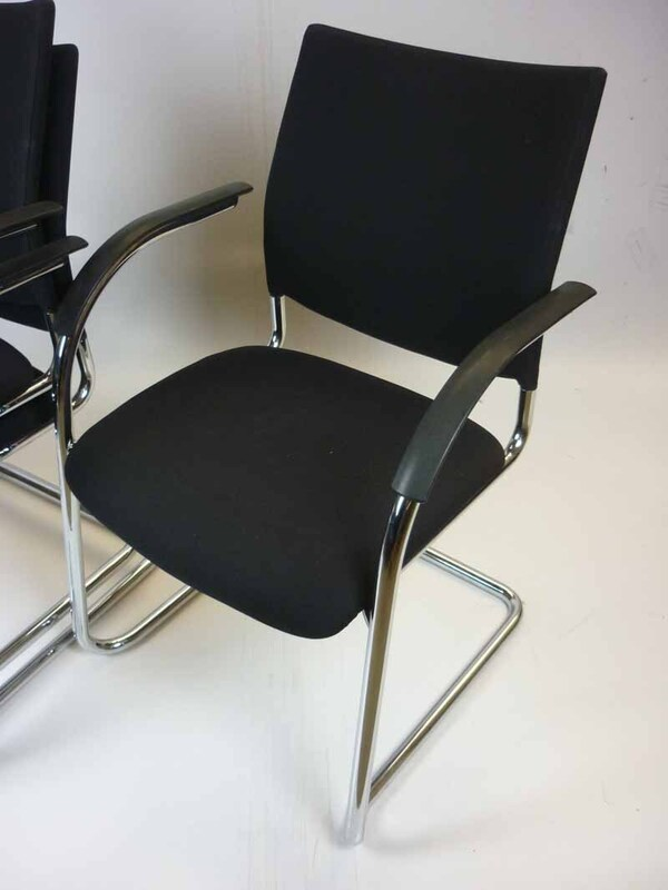 Black Kusch and Co stacking chairs