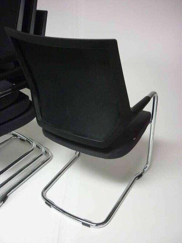 Sedus Quarterback graphite mesh meeting chairs