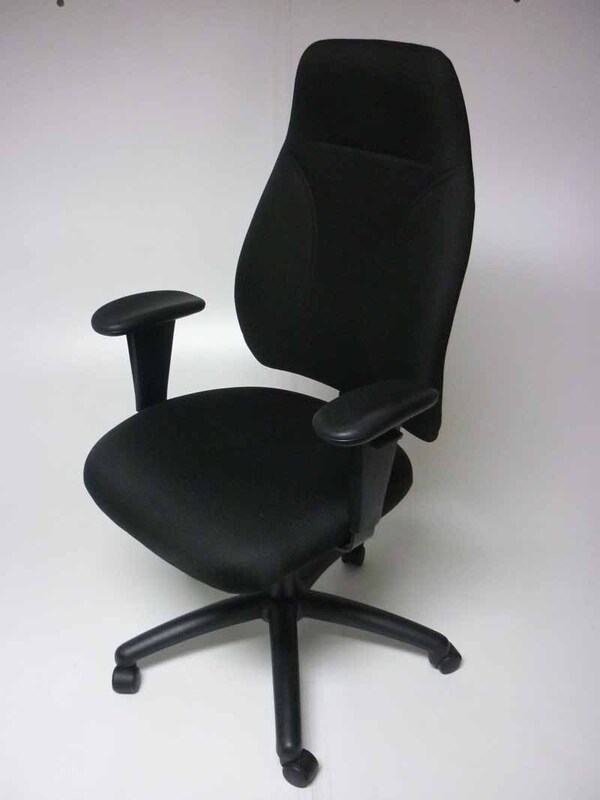 Black 3 lever high back operator chairs