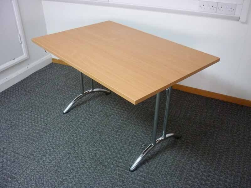 Beech 1200 1400 amp 1600mm folding leg tables