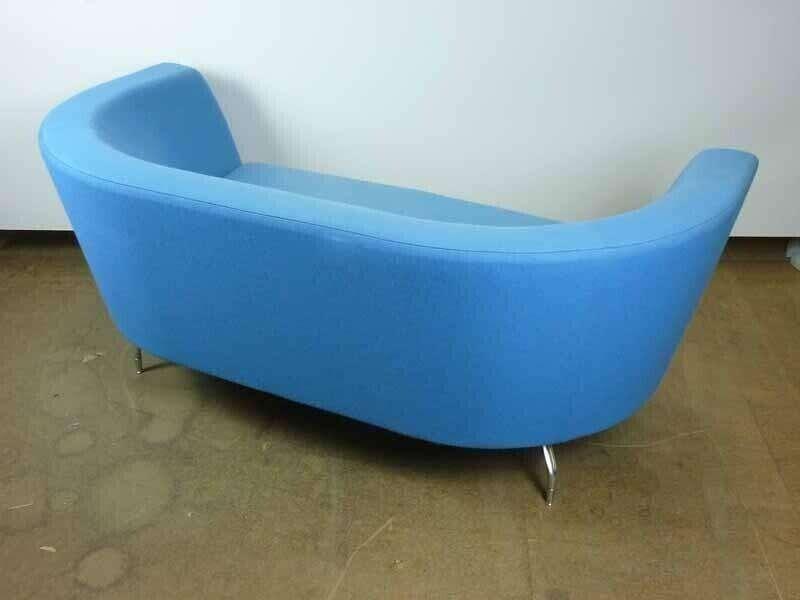 Orangebox CWTCH blue and pink 2 seater sofas