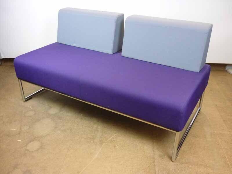 Allermuir Pause 2 seater purple/grey sofa