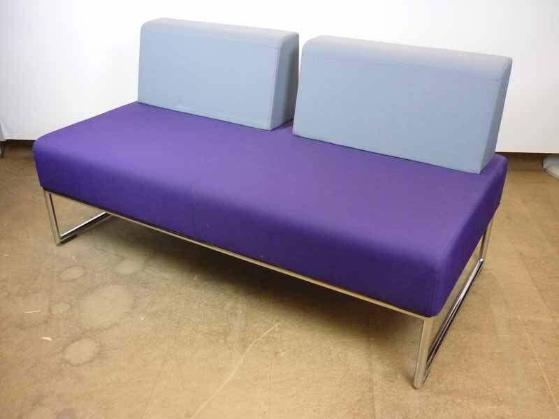 Allermuir Pause 2 seater purplegrey sofa