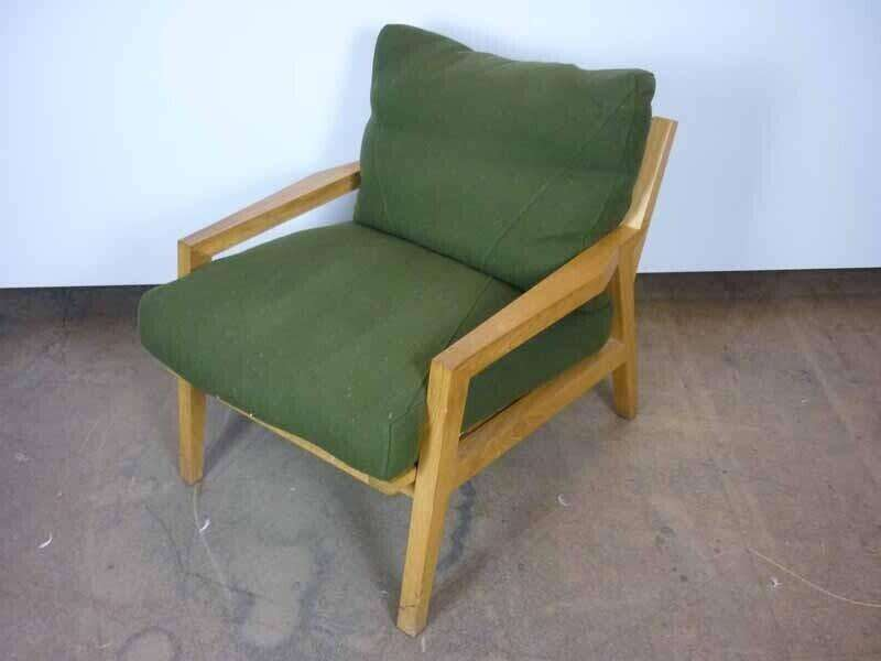 Mark Arris olive green sofa and armchairs