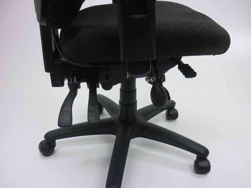 TC Vista charcoal 24 hour task chairs