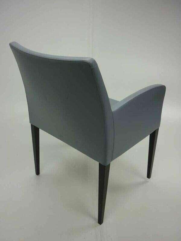 Light blue leather Poltrona Frau Liz armchairs