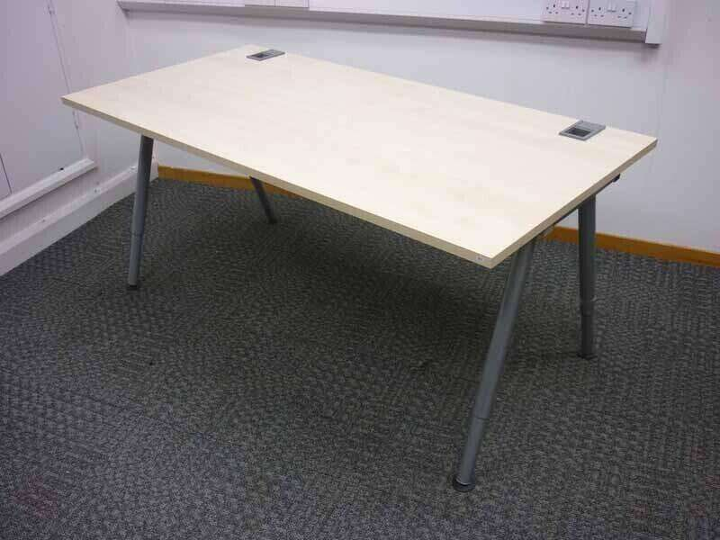 1600 & 1200mm silver 4 leg desk frame and choice of top