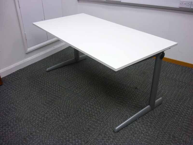 Ahrend 500 white 1600 & 1200mm desks