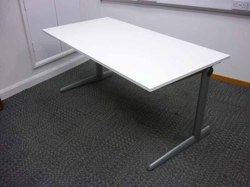Ahrend 500 white 1600 amp 1200mm desks