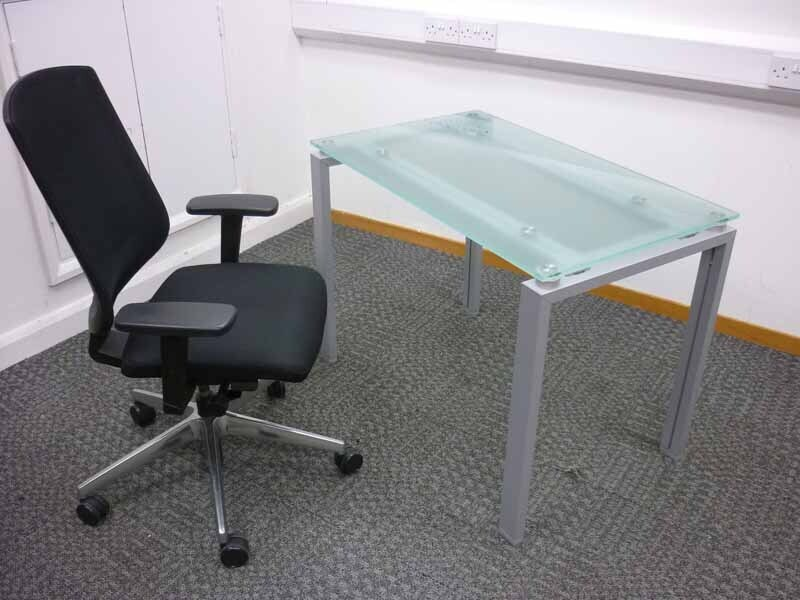 Frosted glass desks