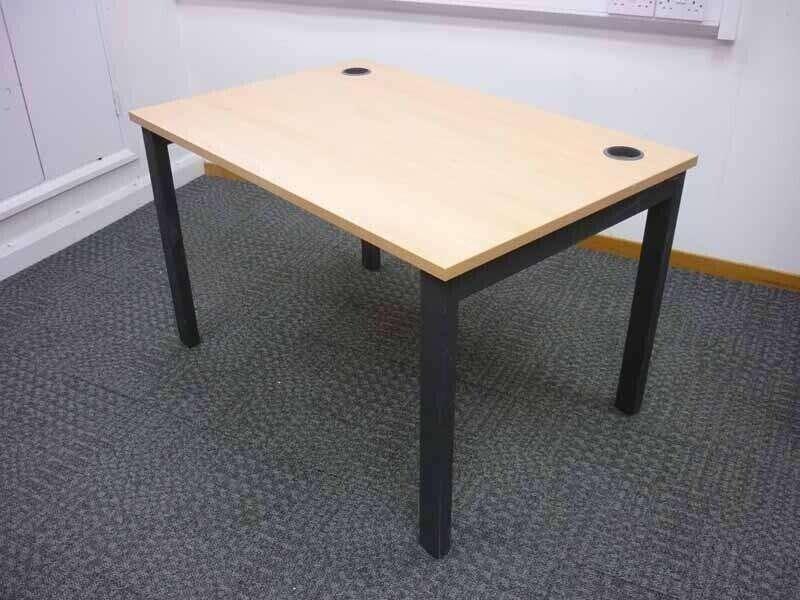 Herman Miller Abak graphite goal post leg desks