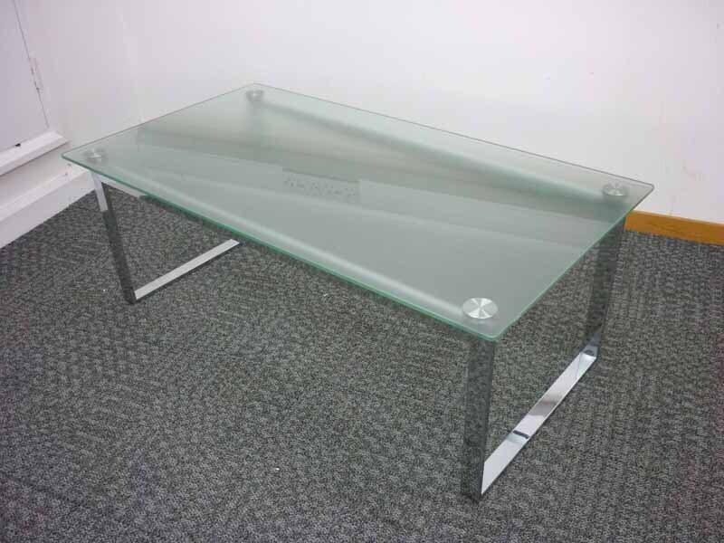 1190x640mm glass chrome coffee table