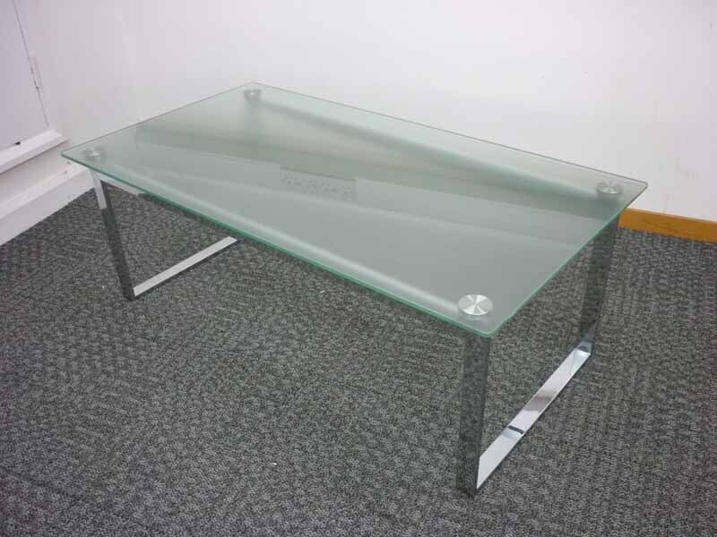 1190x640mm glass chrome coffee table