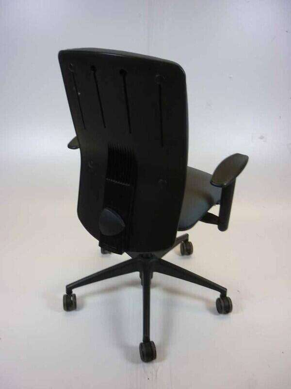 Girsberger recovered task chair with arms