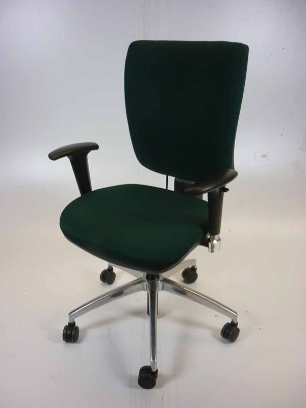 Green square back operator chairs
