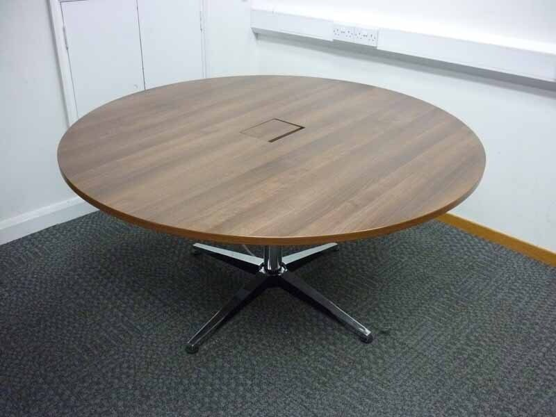 1500mm diameter walnut table with power