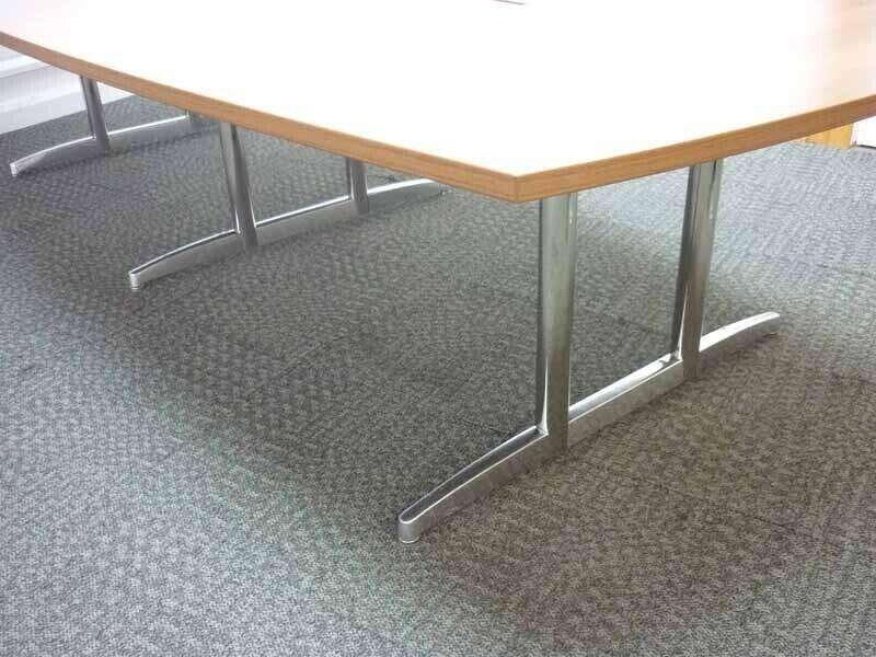 3200 x 1500/1200mm walnut barrel shape table