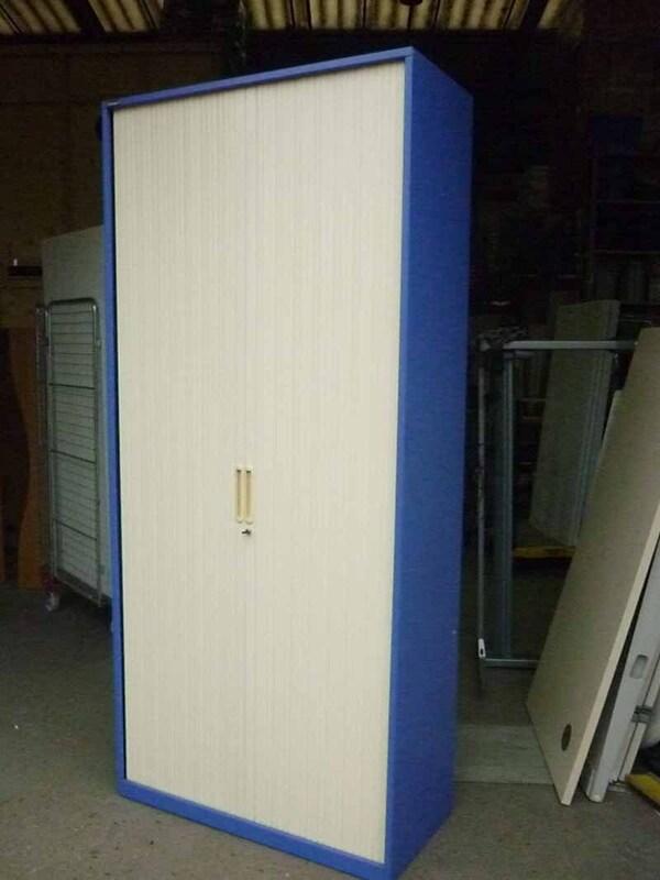 2200mm high blue cream Triumph tambour cupboard