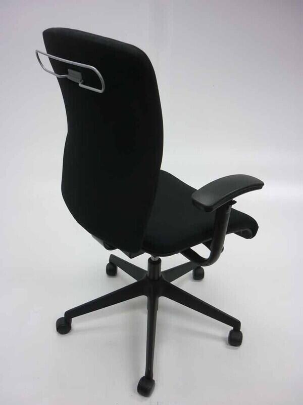 Black Orangebox Go chair with adjustable arms
