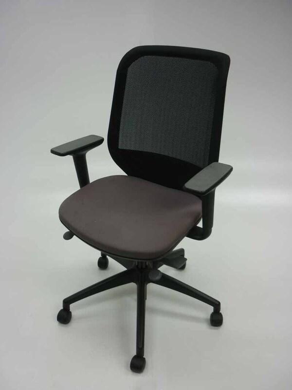 Orangebox Joy grey mesh back task chairs