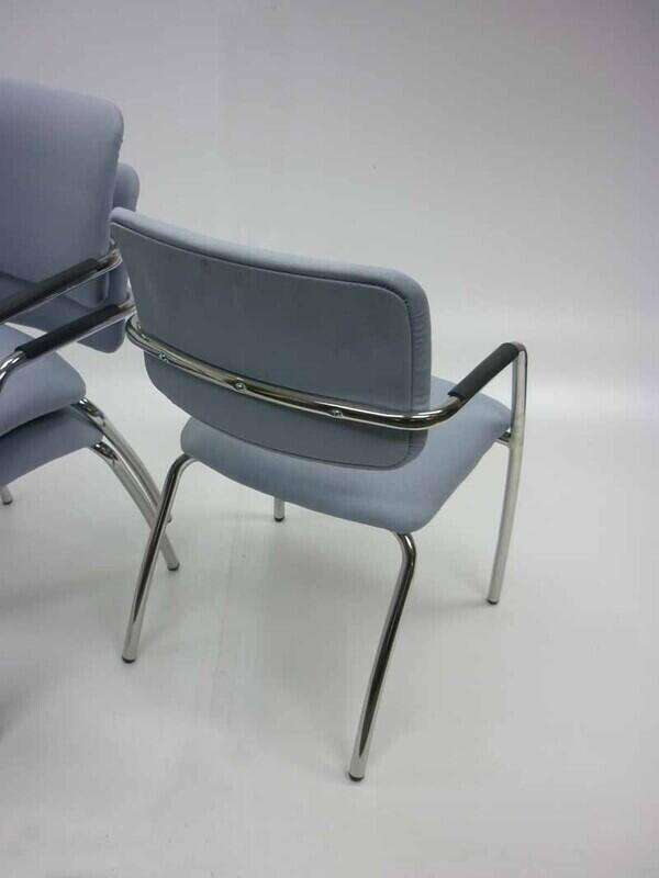Light grey Gresham Metric Plus stacking chairs