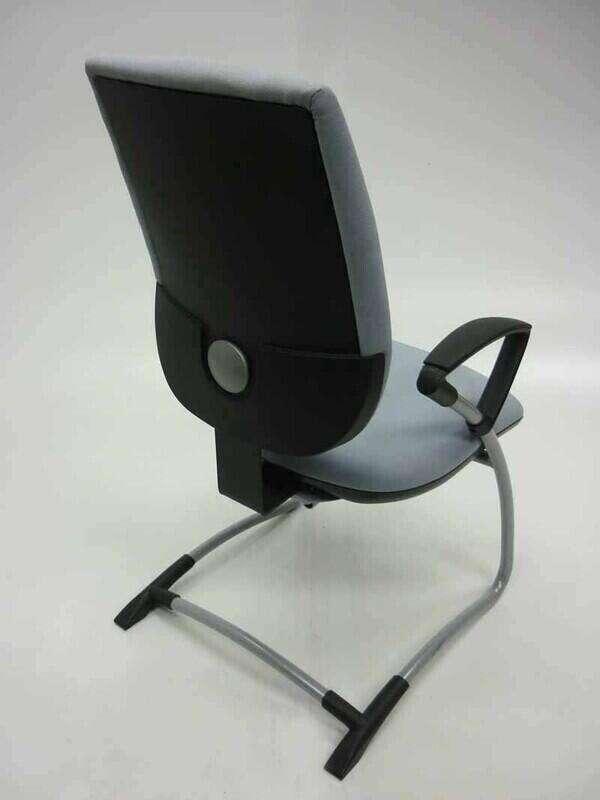 Light grey Gresham Move Up cantilever armchair