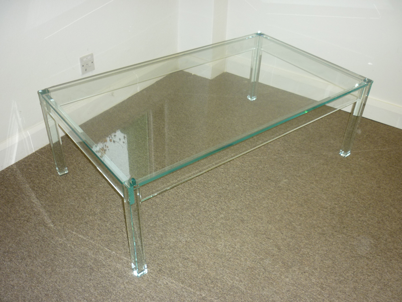 1200x700mm glass coffee table