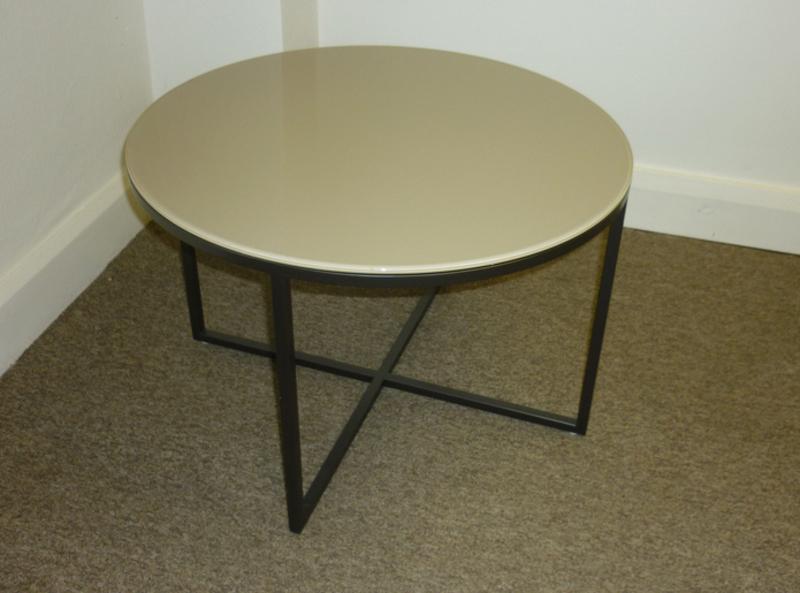Marelli Circle beige glass coffee table