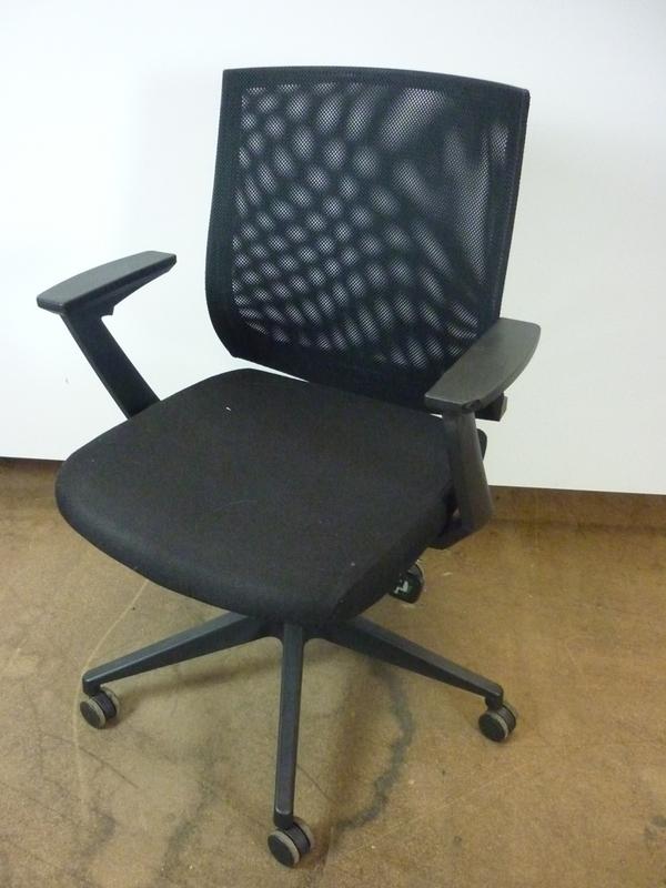 Vivo black mesh back operator chair
