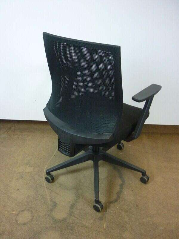 Vivo black mesh back operator chair