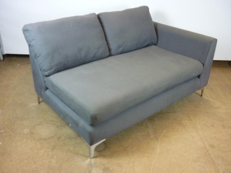 Single arm 2 seater grey sofa