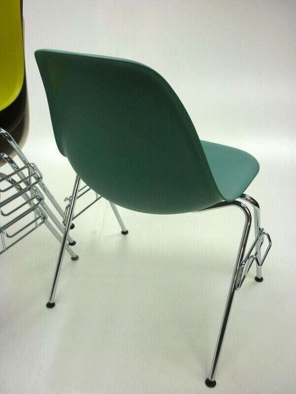 Vitra Eames DSS plastic stacking side chair