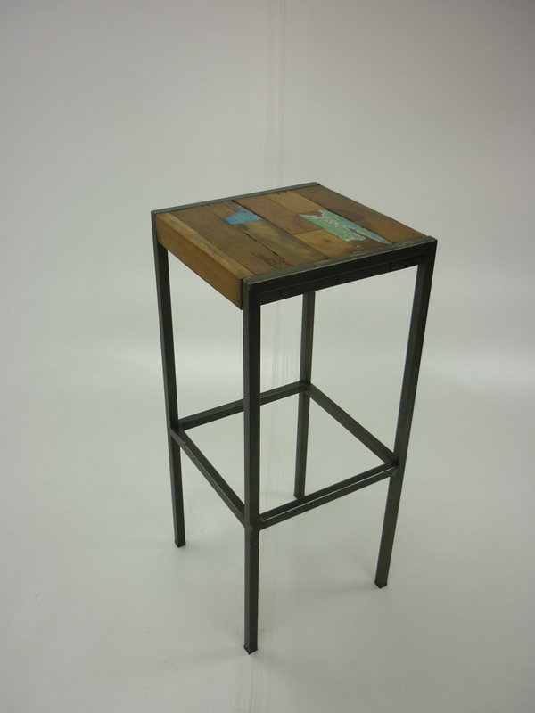 Reclaimed wood 4 leg stools