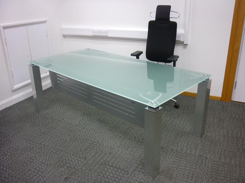 2000x1000mm glass executive desk