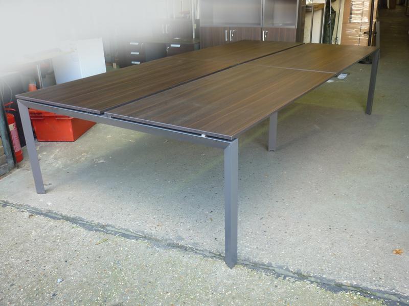 3200mm wenge 4 person bench desk