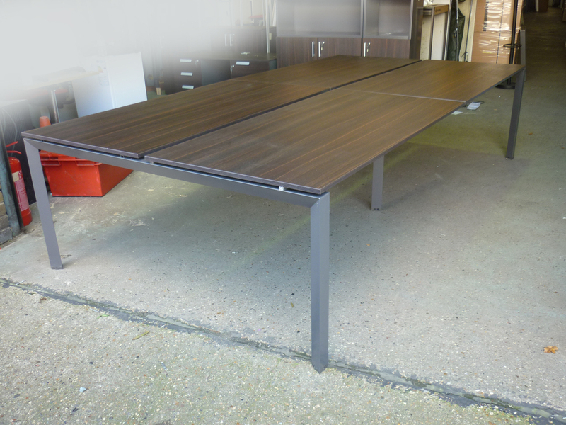 3200mm wenge 4 person bench desk