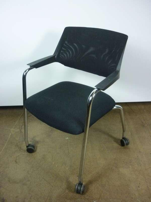 Black Koleksiyon Tristan mesh back meeting chairs