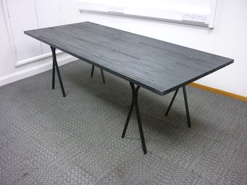 2200 x 940mm rustic black table
