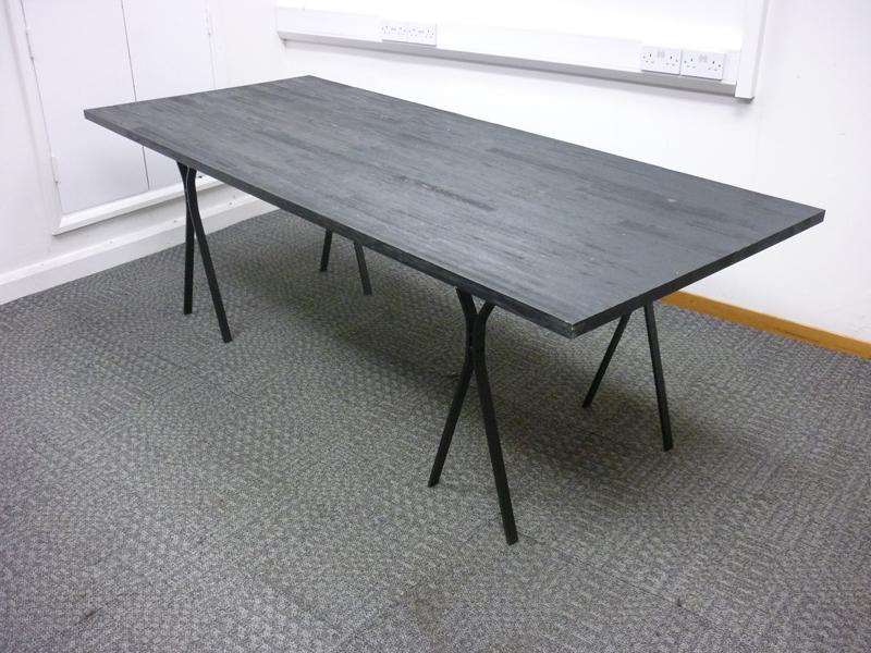 2200 x 940mm rustic black table