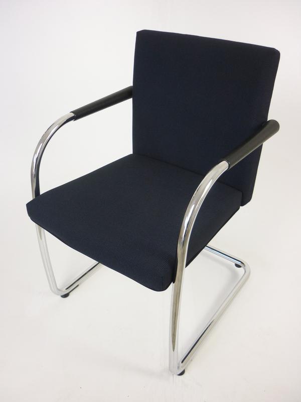 Vitra Visasoft bluegrey fabric meeting chair
