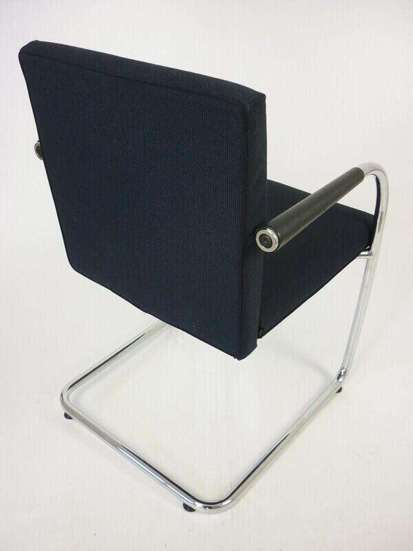 Vitra Visasoft blue/grey fabric meeting chair