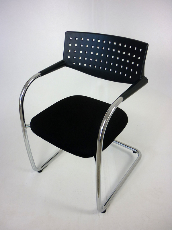 Black Vitra Visavis meeting chairs