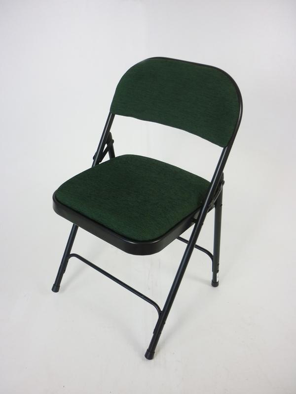 Dark green folding meeting chairs