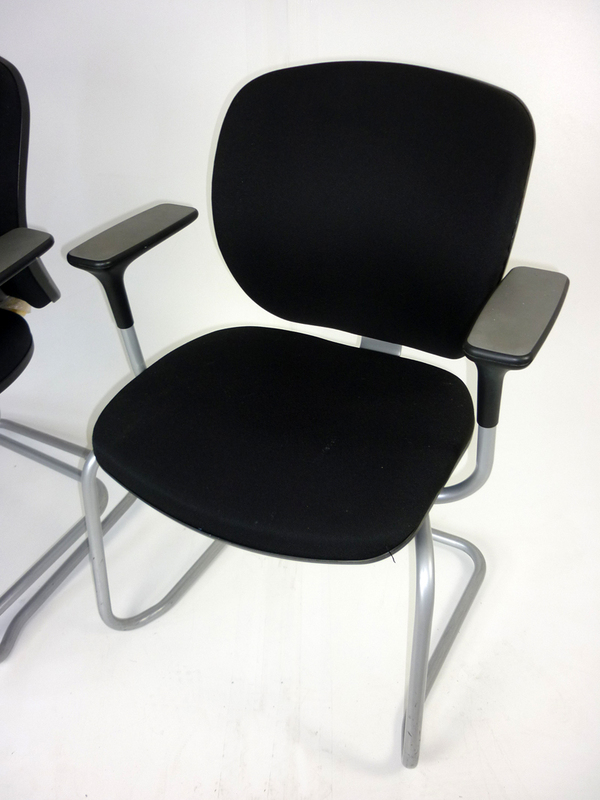Black Orangebox Joy stacking meeting chairs