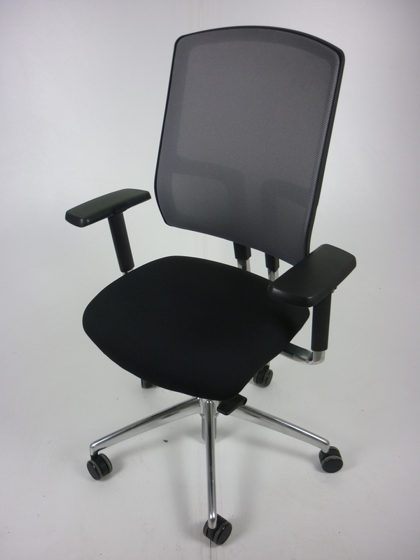 Black mesh back Boss Design Felix chairs