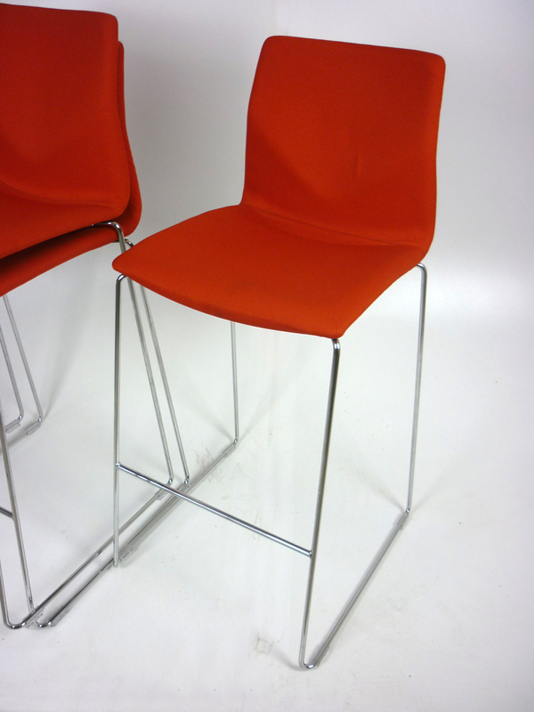 Red FourStool by Four Design
