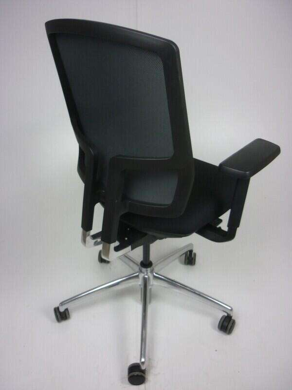Black mesh back Boss Design Felix chairs