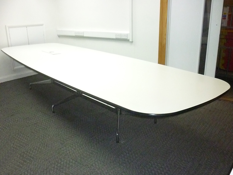 4200mm white Vitra Eames Segmented boardroom table
