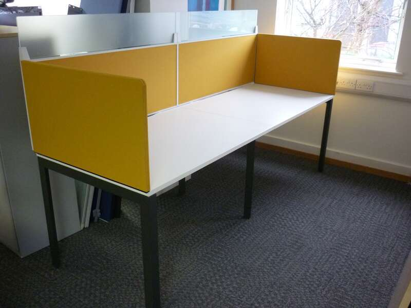 Herman Miller Layout Studio white 1200 & 1600mm bench desks