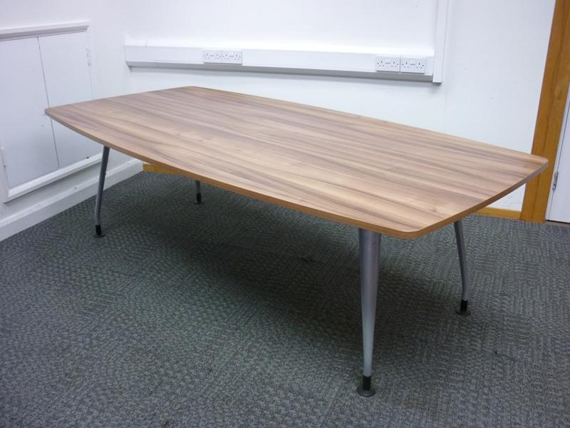 2400mm walnut Verco DNA barrel shape table
